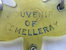 "†  SCARCE HTF VINTAGE SOUVINER ""MT. MELLERAY"" CAPPED DUBLIN IRISH HORN ROSARY †"