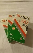 Lot of 3 FujiFilm HQ160 VHS Video Tapes cassettes blank sealed