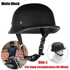Dot Motorcycle German Style Half Face Helmet Motocross Bike Matte Black Size-l