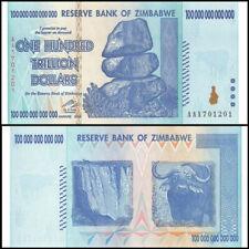 2008 Zimbabwe 100 TRILLION DOLLAR BILL AA, UNC P-91, GEM UNCIRCULATED, AUTHENTIC