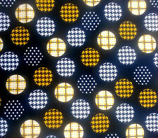 Quilting Fabric  Fat 1/4 Patterns on Black free post