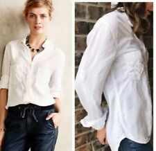 Cloth & Stone White Lyocell Women's Buttons down Blouse Size Large