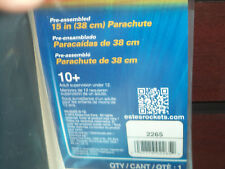 "15"" Printed Parachute *Estes* #2265 Model Rocket Accessories New 302265 New!"