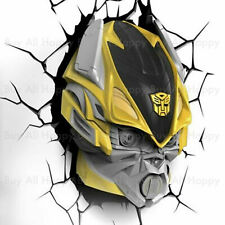 3D LED Night Transformers Bumblebee Autobot FX Deco Wall Light Room Deco Toy
