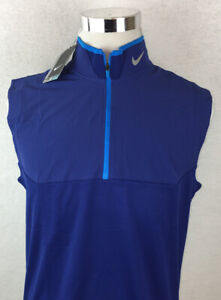 NWT! NIKE GOLF Tour Performance Dri Fit Quarter Zip Athletic Vest Mens Medium