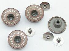5 Jeansknöpfe, Nietenknöpfe Jeans Knöpfe Kupfer / silber 17mm  08.127/768