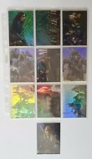 LOTR: The Two Towers Trading Card Prismatic Chase Set 1-10 (Topps, 2001)