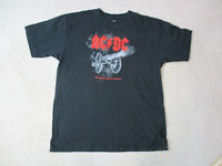ACDC For Those About To Rock Concert Shirt Adult Large Black Red Music Mens *