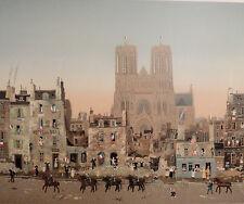 """Michel Delacroix """"La Cathedrale de Rheims"""" Lithograph"""