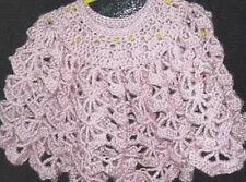 Crochet Pattern ~ LITTLE GIRLS IMMA FAN PONCHO ~ Instructions