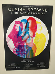 CLAIRY BROWNE & THE BANGIN' RACKETTES 2013 Australian Tour Poster A2 Soul ***NEW