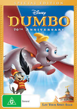 DUMBO - DISNEY SPECIAL EDITION 70TH ANNIVERSARY DVD - BRAND NEW & SEALED (R4)