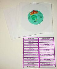 Elvis 45 Rpm Jukebox 25 Record Set With Printed Title Strip Cards- Free Shipping
