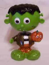 RESIN BOBBLE HEAD FRANKENSTEIN HALLOWEEN DECORATION TRICK O TREAT FALL AUTUMN