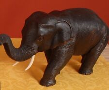Elefant aus Holz, Figur, Teak, Buddha, Holzelefant, Gr.1, Höhe 9 cm, Länge 16cm