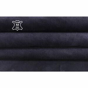 BLUE suede stretch Genuine sheepskin Elastic leather fabric DEEP WELL 676,2.0oz