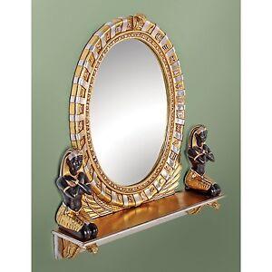 NE64386 - King Amenhotep Egyptian Statue Vanity Mirror - Ancient Egyptian Decor!