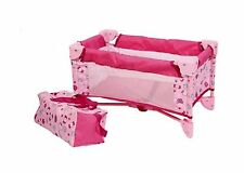 Baby Doll Bed Playpen Furniture Playset for Dolls Free Shipping