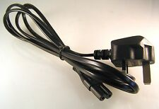 Figure of 8 Power Lead with UK 3 Pin Plug 1.8M  - Radio Laptop PS2 OM1175