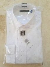 TOMMY HILFIGER MEN'S WHITE LOGO DRESS SHIRT 16-16 1/2-34/35 SLIM FIT $69.50 NWT