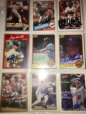 fmr. Los Angeles Dodgers MLB auto autograph baseball card LOT X9 Steve Yeager ++