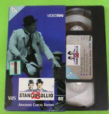 VHS film stanlio & ollio 2 n 4 VIDEO RAI ARMANDO CURCIO 60 minuti (F107) no dvd