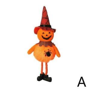Halloween Pumpkin Ghost Gnome Doll Pendant Cute Cartoon Dwarf Hanging L0Z4