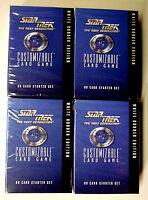 Star Trek Next Generation CCG 4X Sealed Starter Decks & Warp Packs Decipher 1995