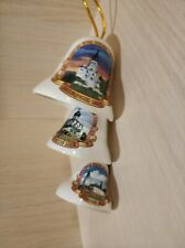 Rare Set Lot Porcelain Pottery Cities of Russia geographical 8 Bells #2