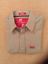 Superdry Grey & White Stripe XL Shirt - Very Good Condition