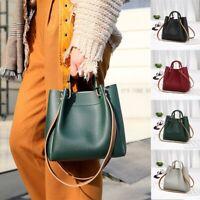 Women PU Leather Handbag Stylish Ladies Office Tote Shoulder Bucket Bag Satchel