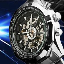 NEW Steampunk Mens Sterlingsilber automatisch mechanisch Watch Herren Armbanduhr