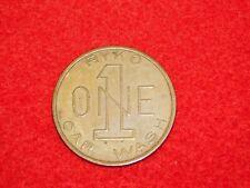 VINTAGE CAR AUTO  RYKO ONE 1 CAR WASH TOKEN COIN