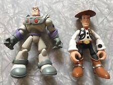 Lot of 2 2006 Hasbro Toy Story & Beyond Star Squad Woody & Ninja Buzz Lightyear