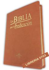 BIBLIA PARA LA PREDICACIÓN LETRA GRANDE REINA VALERA 1960, IMITACIÓN PIEL MARRON