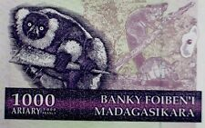 Madagascar 2004 Lemur Banknote 1000 Ariary/5000 Franc Africa Paper Money