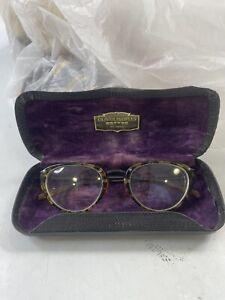 Oliver Peoples Eyeglasses Vintage Tortoise  EYEWEAR England Frames & Case