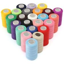 Sewing Thread Spools Set Of 24 Assorted Lots Colors 100% Polyester 1000 Yds Each