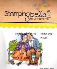 New Stamping Bella Cling Rubber Stamp YOUNG LOVE OLDER COUPLE BENCH FREE US SHIP