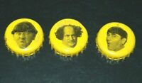 THREE STOOGES BOTTLE CAPS LOT OF 3- 2 MOES AND 1 CURLY PANTHER BREWING