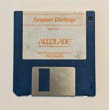 European Challenge Test Drive II Add-On Scenery Apple IIGS Accolade Game Vintage