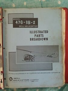 bell 47g-3b-2 helicopter illustrated parts breakdown manual