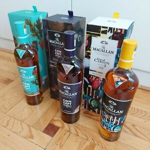 Macallan Concept 1+2+3-Whisky-Limited Edition-- NEW--PERFECT