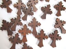 Wholesale Lot of 50 Small Wood Crosses, Very Pretty Details