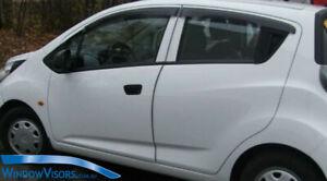 Window Visors WeatherShields 4pcs weather shields for Holden Barina Spark 10-16