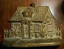 Vintage 1920's Albany Foundry Brass Cape Code Cottage Doorstop