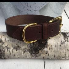 Fettleder - Halsband   Fettlederhalsband   braun