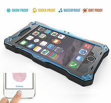 IP68 R-JUST Waterproof Shockproof Metal Gorilla Glass Case Cover for iPhone 7 6s