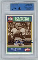 1990 PACKERS Willie Wood signed card Swell #36 JSA / Beckett Slab AUTO Autograph