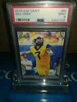 WILL GRIER  2019 Leaf Draft Rookie Card PSA 9 MINT PANTHERS ! STUD QB🏈🔥LOW POP
